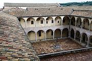 Cloister of Basilica of San Francesco Assisi, Umbria, Italy