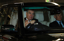 © under license to London News Pictures. 10/03/11 Prince Andrew arrives at the Excel Centre today (10/03/2011) for the science and engineering Big Bang Fair. He is patron of the Young Engineers. Photo credit should read: Olivia Harris/ London News Pictures
