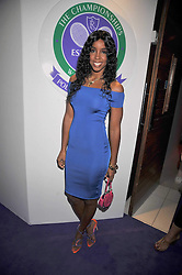 KELLY ROWLAND at The Ralph Lauren Sony Ericsson WTA Tour Pre-Wimbledon Party hosted by Richard Branson at The Roof Gardens on June 18, 2009