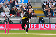 Max Waller of Somerset bowling during the Vitality T20 Finals Day Semi Final 2018 match between Worcestershire Rapids and Lancashire Lightning at Edgbaston, Birmingham, United Kingdom on 15 September 2018.