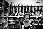 Compétition de pistolet défensif, organisé par le IDPA: International defensive pistol association. Norcross, USA.