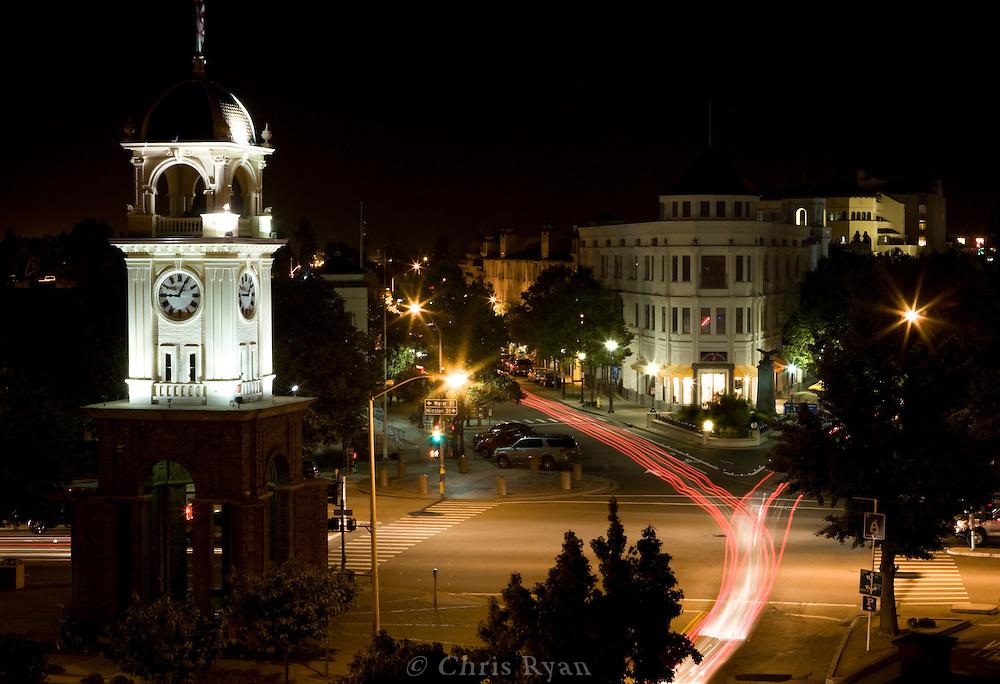 Downtown Santa Cruz at night