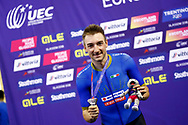 Podium, Men Omnium, Elia Viviani (Italy) Silver medal, during the Track Cycling European Championships Glasgow 2018, at Sir Chris Hoy Velodrome, in Glasgow, Great Britain, Day 3, on August 4, 2018 - Photo Luca Bettini / BettiniPhoto / ProSportsImages / DPPI