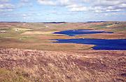 Loch of Kirkidale and village, Mainland, Shetland Islands, Scotland