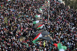 October 21, 2016 - Gaza, gaza strip, Palestine - Palestinians attend a rally marking the 29th anniversary of the foundation of the Islamic Jihad movement in Gaza City October 21, 2016. (Credit Image: © Majdi Fathi/NurPhoto via ZUMA Press)