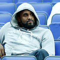09 August 2012: Team France player Ronny Turiaf is seen watching the game during 81-64 Team France victory over Team Russia, during the women's basketball semi-finals, at the 02 Arena, in London, Great Britain.