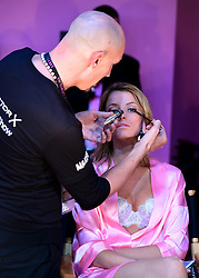 Flavia Lucini backstage at the Victoria's Secret fashion show held at The Grand Palais, Paris, France.