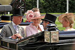 HRH The PRINCE OF WALES and the DUCHESS OF CORNWALL at the Royal Ascot racing festival 2009 held on 17th June 2009.