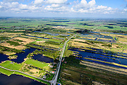 Nederland, Friesland - Overijssel, 07-05-2015; Rottige Meenthe, Grote Veenpolder in Weststellingwerf tusen Spanga en Nijetrijne.<br /> Natuurreservaat ontstaan door vervening.<br /> Nature reserve on the border of Friesland, caused by mining peat.<br /> luchtfoto (toeslag op standard tarieven);<br /> aerial photo (additional fee required);<br /> copyright foto/photo Siebe Swart