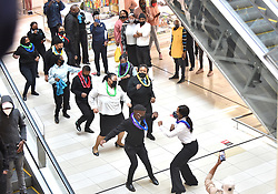 South Africa - Pretoria - 01 September 2020 - Checkers Sunnypark staff do the #jerusalemchallenge at Sunnypark Shopping Centre.<br /> <br /> Picture: Thobile Mathonsi/African News Agency (ANA)