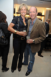 SIMON & SANTA SEBAG-MONTEFIORE at a reception hosted by Vogue and Burberry to celebrate the launch of Fashions Night Out - held at Burberry, 21-23 Bond Street, London on 10th September 2009.