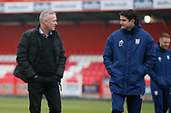 Ipswich Town Manager Paul Lambert and Assistant Manager Stuart Taylor during the The FA Cup 3rd round match between Accrington Stanley and Ipswich Town at the Fraser Eagle Stadium, Accrington, England on 5 January 2019.