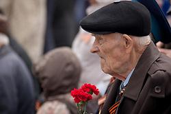 May 10, 2017 - Tambov, Tambov region, Russia - Veterans on Victory day Parade may 9, 2017 in Russia  (Credit Image: © Aleksei Sukhorukov via ZUMA Wire)