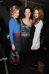 Left to right, ALEXIA INGE, LORRAINE GODDARD and OLIVIA INGE at a party following a private view of photographs by Lorraine Goddard entitled 'Out of Context' held at the Sanderson Hotel, Berners Street, London on 21st January 2010.