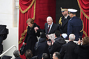 Former President Jimmy Carter and wife Rosalynn Carter arrive for the President Inaugural Ceremony on Capitol Hill January 20, 2017 in Washington, DC. Donald Trump became the 45th President of the United States in the ceremony.