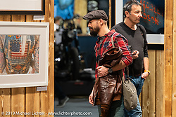 Display of Michael Lichter Limited Edition print series organized by the promoters of the Swiss-Moto Customizing and Tuning Show. Zurich, Switzerland. Friday, February 22, 2019. Photography ©2019 Michael Lichter.