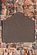 Historic landmark plaque at the 49ers Gateway, Death Valley National Park. California