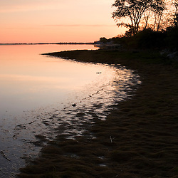 Salt marsh in spring.  Strawberry Hill Preserve in Ipswich, Massachusetts.  Eagle Hill River.  Dawn.