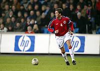 Fotballl, 19. november 2003, Play-off, Norge-Spania 0-3, Claus Lundekvam, Norge