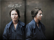 Vintage Mugshots in colour<br /> <br /> Alice Adeline Cooke, criminal record number 565LB, 30 December 1922. State Reformatory for Women, Long Bay, NSW<br /> <br /> Convicted of bigamy and theft. By the age of 24 Alice Cooke had amassed an impressive number of aliases and at least two husbands. Described by police as 'rather good looking', Cooke was a habitual thief and a convicted bigamist. Aged 24. Part of an archive of forensic photography created by the NSW Police between 1912 and 1964.<br /> ©Frédéric DurIiez/Exclusivepix Media