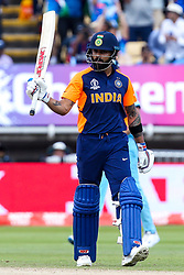 Virat Kohli of India celebrates reaching 50 - Mandatory by-line: Robbie Stephenson/JMP - 30/06/2019 - CRICKET - Edgbaston - Birmingham, England - England v India - ICC Cricket World Cup 2019 - Group Stage