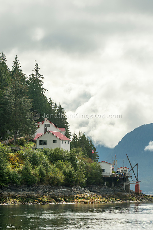 Canadian Coast Guard station in Queen Charlotte sound, British Columbia, Canada.