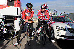 December 15, 2017 - Manacor, Espagne - MANACOR, SPAIN - DECEMBER 15 : VANENDERT Jelle (BEL) Rider of Team Lotto - Soudal and DEBUSSCHERE Jens (BEL) Rider of Team Lotto - Soudal pictured during the training camp of the Lotto Soudal cycling team on December 15, 2017 in Manacor, Spain, 15/12/17 (Credit Image: © Panoramic via ZUMA Press)