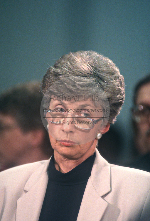US Immigration Commissioner Doris Meissner testifies in Congress March 5, 1997 in Washington, DC.