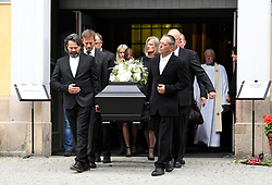 July 21, 2017 - Stockholm, Sweden - Catharina Nyqvist..Funeral of Michael Nyqvist, Katarina Church, Stockholm, 2017-07-21..(c) Carolina Byrmo  / Aftonbladet / IBL BildbyrÃ¥....* * * EXPRESSEN OUT * * *....AFTONBLADET / 85440 (Credit Image: © Aftonbladet/IBL via ZUMA Wire)