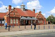 Railway train station building exterior, Felixstowe, Suffolk, England, UK Great Eastern Railway 1898 as Felixstowe Town station