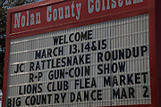 Sweetwater, TX - March 15: Sign welcoming visitors to the 51st Annual Sweetwater Texas Rattlesnake Round-Up, March 15, 2009 in Sweetwater, TX. During the three-day event approximately 10,000 rattlesnakes will be collected, milked and served to support charity.   (Photo by Richard Ellis/Getty Images)