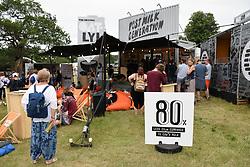Latitude Festival 2017, Henham Park, Suffolk, UK. Oatly! oat drink stall