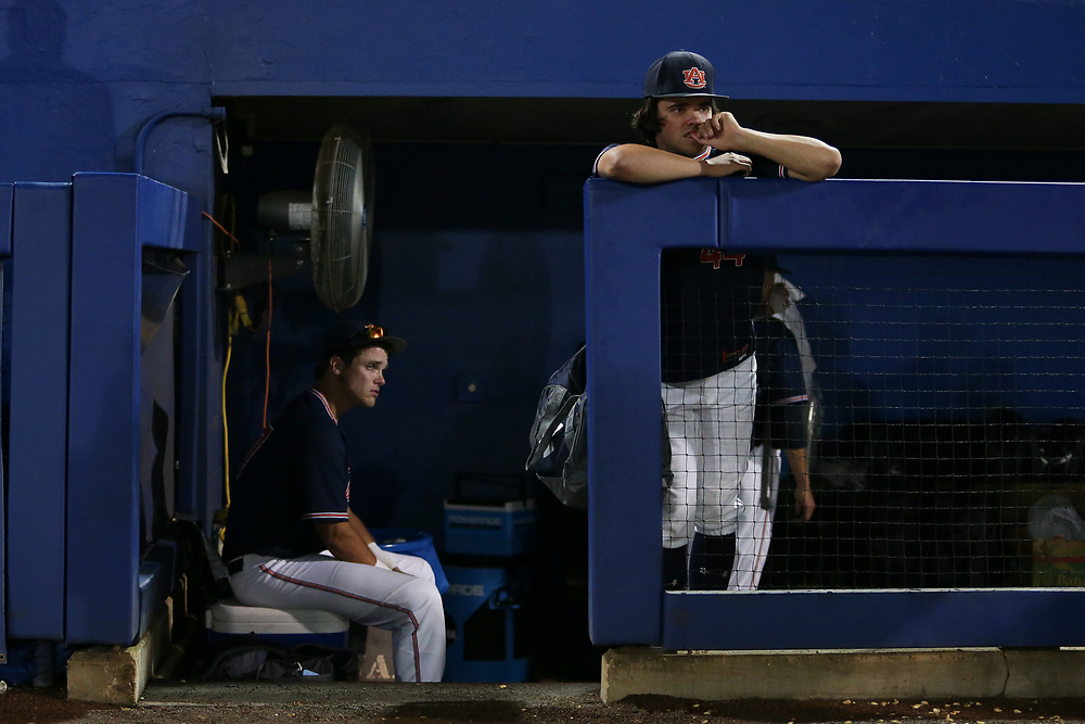 Auburn Tigers vs. Florida Gators in Game 3 of the Super Regional at Alfred A. McKethan Stadium in Gainesville, Fla. on Monday, June 11, 2018.<br /> Zach Bland/Auburn Athletics
