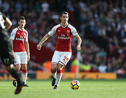 28 October 2017 London: Premier League Football: Arsenal v Swansea City : Granit Xhaka of Arsenal.<br /> Photo: Mark Leech
