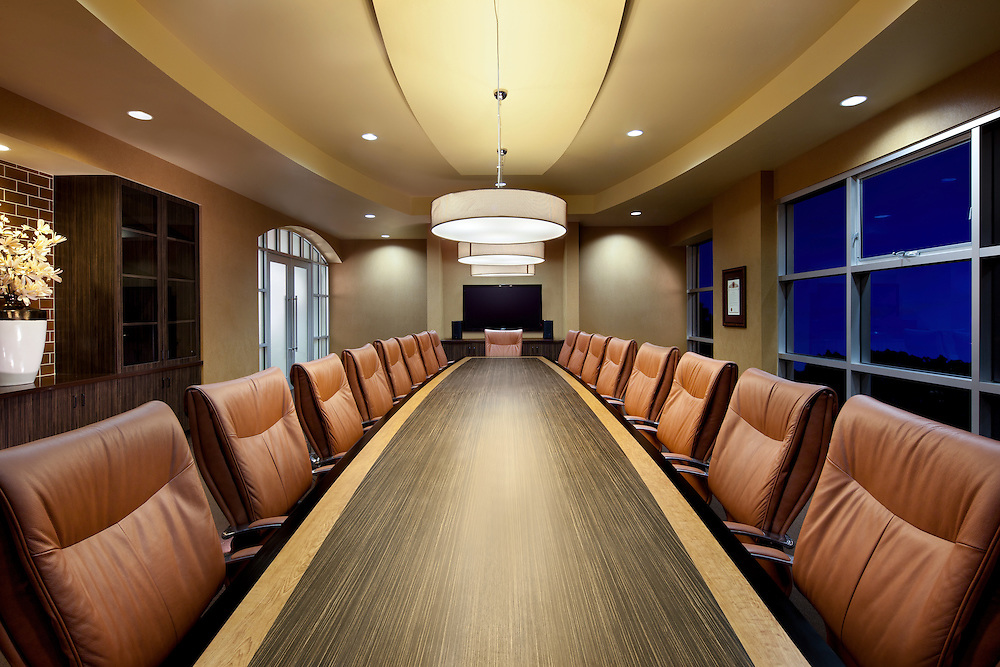 Board Room at CPF Office infrastructure- architectural and Interior Photography example of Chip Allen's work.