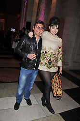 SID OWEN and GIZZI ERSKINE at the 50th birthday party for Jonathan Shalit held at the V&A Museum, London on 17th April 2012.
