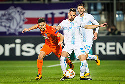 Tarkan Serbest of Austria Wien and Marko Vesovic of HNK Rijeka during UEFA Europa League 2017/18 group D match between HNK Rijeka and FK Austria Wien, on November 2, 2017 in Rijeka, Croatia. Photo by Ziga Zupan / Sportida