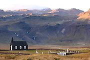 Church and cemetery at Budir, Iceland (adjacent to Budahraun Nature Preserve)