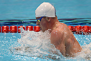 Adam Peaty on his way to a team Gold Medal in the 4 x 100m Medley during day 14 of the 33rd  LEN European Aquatics Championship Swimming Finals 2016 at the London Aquatics Centre, London, United Kingdom on 22nd May 2016. Photo by Martin Cole.