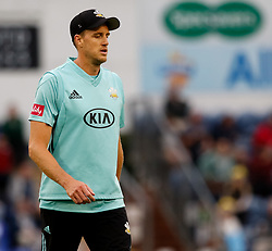 Surrey's Morne Morkel<br /> <br /> Photographer Simon King/Replay Images<br /> <br /> Vitality Blast T20 - Round 14 - Glamorgan v Surrey - Friday 17th August 2018 - Sophia Gardens - Cardiff<br /> <br /> World Copyright © Replay Images . All rights reserved. info@replayimages.co.uk - http://replayimages.co.uk