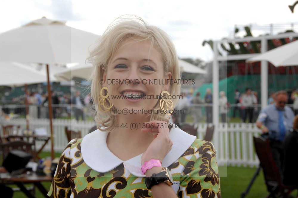 LADY ALEXANDRA SPENCER-CHURCHILL at the Cartier International polo at Guards Polo Club, Windsor Great Park on 29th July 2007.<br />