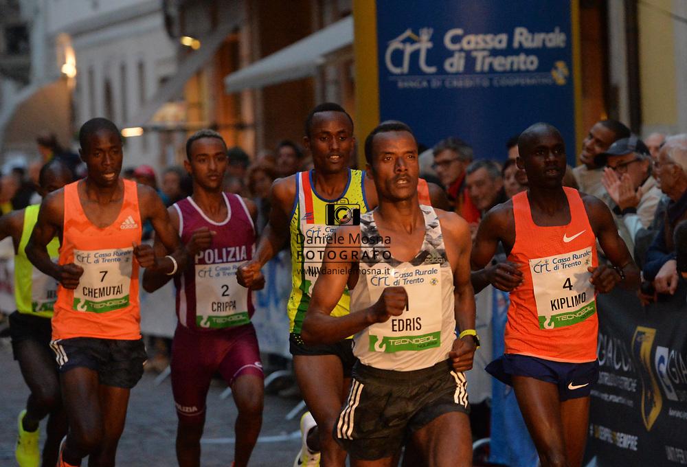 Trento Running Festival - October the 6th, 2018 -  Trento, Italy. Giro al Sas - Edris<br /> © DANIELEMOSNA.IT