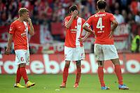 Fotball<br /> Tyskland<br /> 21.09.2013<br /> Foto: Witters/Digitalsport<br /> NORWAY ONLY<br /> <br /> v.l. Johannes Geis, Christoph Moritz, Nikolce Noveski (Mainz)<br /> Fussball Bundesliga, FSV Mainz 05 - Bayer 04 Leverkusen 1:4