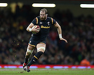 Alun Wyn Jones of Wales in action. Under Armour 2016 series international rugby, Wales v Japan at the Principality Stadium in Cardiff , South Wales on Saturday 19th November 2016. pic by Andrew Orchard, Andrew Orchard sports photography