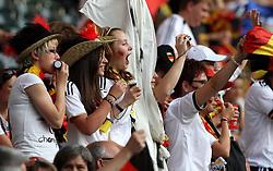 05.07.2011, Borussia-Park, Moenchengladbach, GER, FIFA Women Worldcup 2011, Gruppe A,  Frankreich (FRA) Deutschland (GER) ,. im Bild deutsche Fans . // during the FIFA Women´s Worldcup 2011, Pool A,France vs Germany on 2011/06/26, Borussia-Park, Moenchengladbach, Germany. EXPA Pictures © 2011, PhotoCredit: EXPA/ nph/  Karina Hessland       ****** out of GER / CRO  / BEL ******