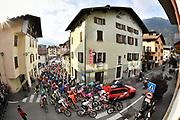 Foto Massimo Paolone/LaPresse <br /> 22 ottobre 2020 Italia<br /> Sport Ciclismo<br /> Giro d'Italia 2020 - edizione 103 - Tappa 18 - Da Pinzolo a Laghi di Cancano (Parco Nazionale Stelvio) (km 207)<br /> Nella foto: la partenza della gara<br /> <br /> Photo Massimo Paolone/LaPresse<br /> October 22, 2020  Italy  <br /> Sport Cycling<br /> Giro d'Italia 2020 - 103th edition - Stage 18 - From Pinzolo to Laghi di Cancano (Parco Nazionale Stelvio)<br /> In the pic: the start of the race