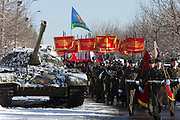 Moscow, Russia, 15/02/2011..Soviet veterans of the war in Afghanistan meet on the anniversary of the completion of the Soviet Union's withdrawal in 1989.