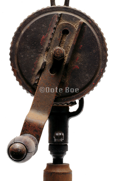 old manual operated hand drill