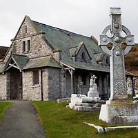 Europe, United Kingdom, Wales, Conwy. St. Tudno churchyard on the Great Orme, Wales.