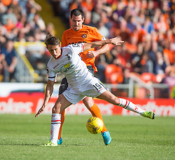 Inverness Caledonian Thistle's Danny Williams  and Dundee United's Ryan McGowan. <br /> Dundee United 1 v 1 Inverness Caledonian Thistle, SPFL Ladbrokes Premiership game played 19/9/2015 at Tannadice.